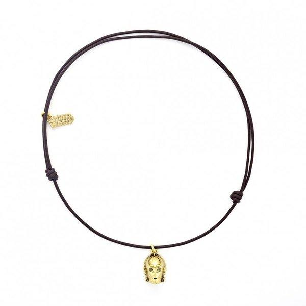 Halskette C-3PO aus Leder
