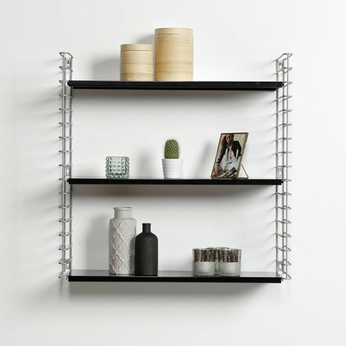 METALTEX TOMADO Bookshelf | Frosted & Black