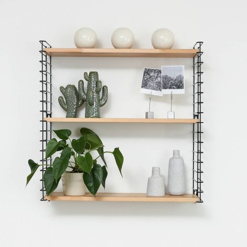 METALTEX TOMADO Bookshelf | Black & Wood