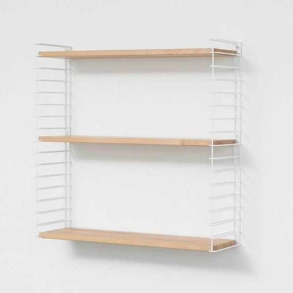 "TOMADO Bücherregal ""Weiß & Holz"""