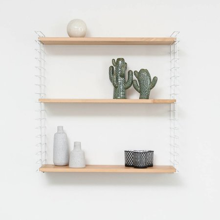METALTEX TOMADO Bücherregal | Weiß & Holz
