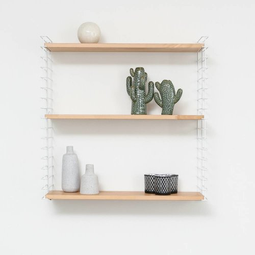 METALTEX TOMADO Bookshelf | White & Wood