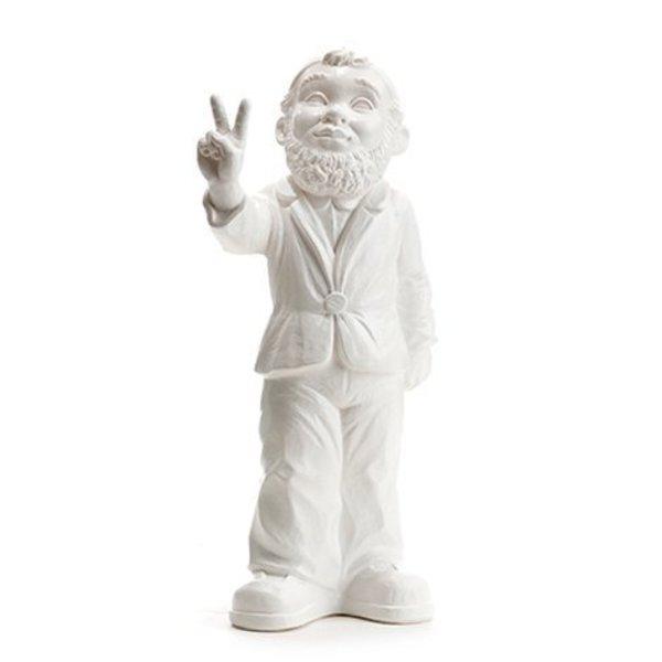 """Victory"" Garden Gnome in White"