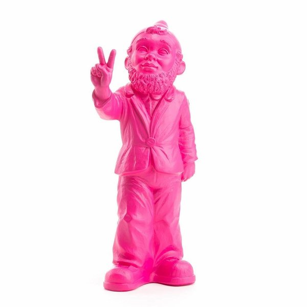 """""""Victory"""" Garden Gnome in Pink"""