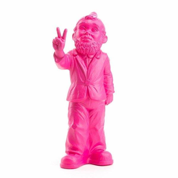"""""""Victory"""" Gartenzwerg in Pink"""