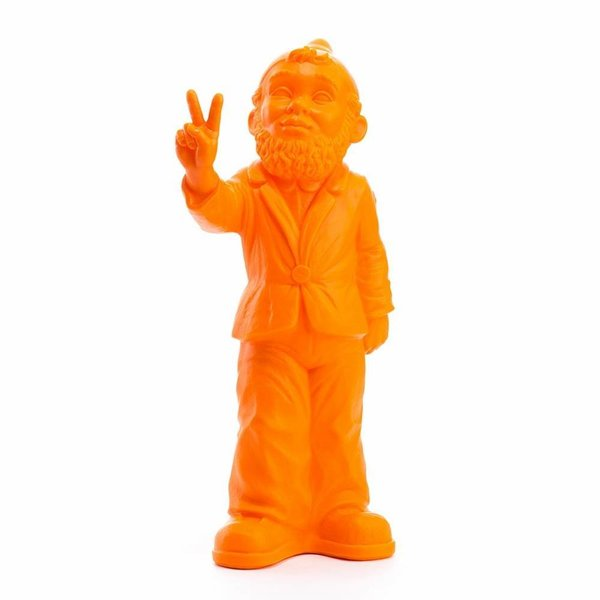 """Victory"" Garden Gnome in Orange"