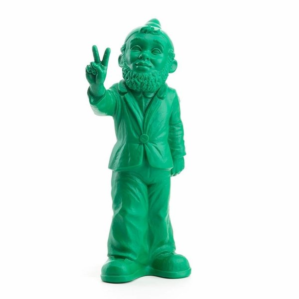 """Victory"" Garden Gnome in Green"