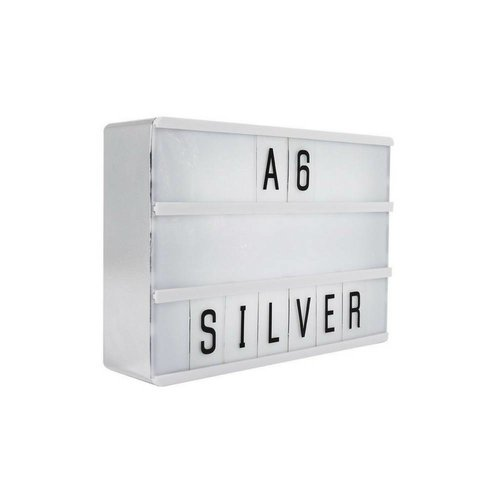 LOCOMOCEAN LIGHTBOX A6 | Silber