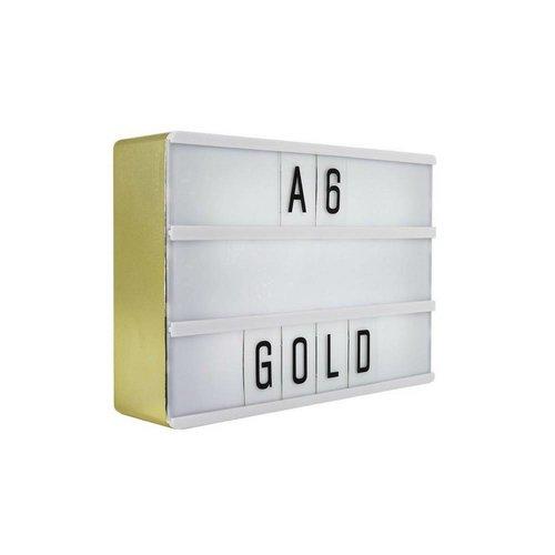 LOCOMOCEAN LIGHTBOX A6 | Goud