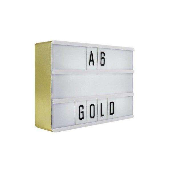 LIGHTBOX A6 Magnetisch Mini Buchstaben Leuchtkasten mit Micro USB Input