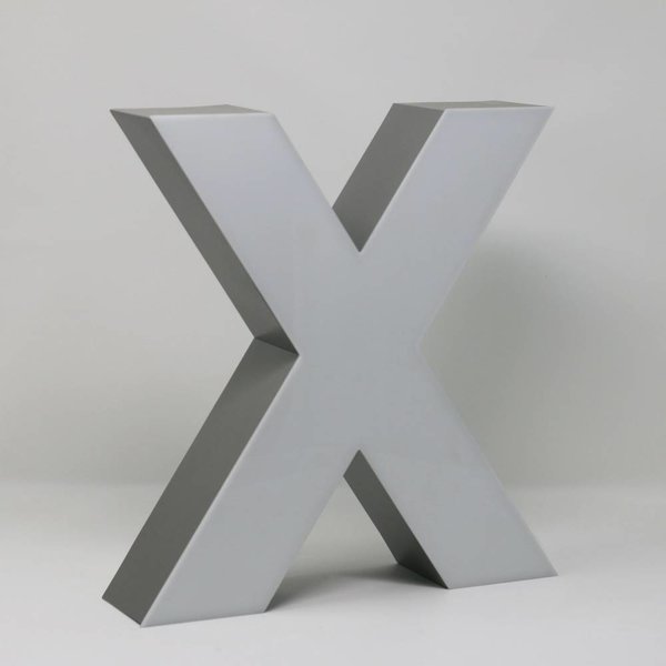 Quizzy LED Letter X