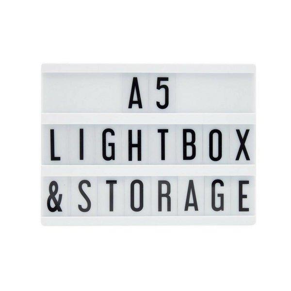 A5 Buchstaben Leuchtkasten in Schwarz mit Micro USB Input