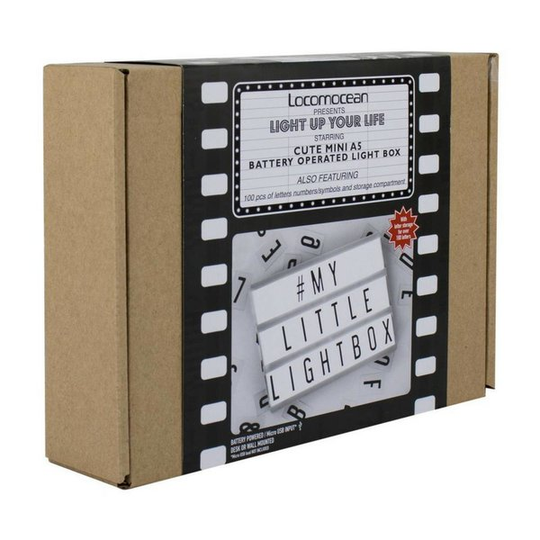 A5 Letter Light Box in Black Micro USB Input