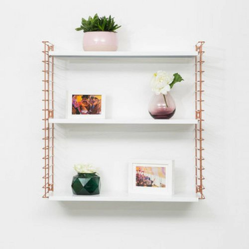 METALTEX TOMADO Bookshelf | Copper & White