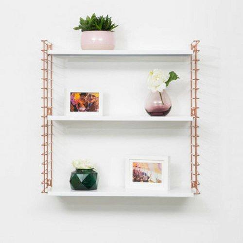 METALTEX TOMADO Bücherregal | Kupfer & Weiß