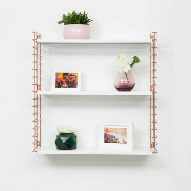 TOMADO Bookshelf | Copper & White