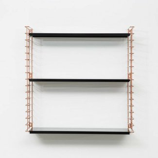 TOMADO Bookshelf | Copper & Black