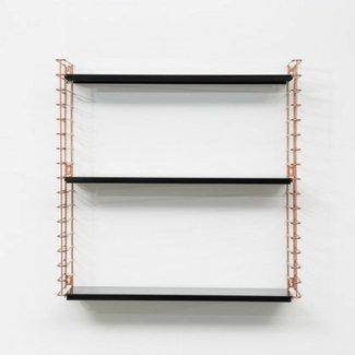 TOMADO Bücherregal | Kupfer & Schwarz