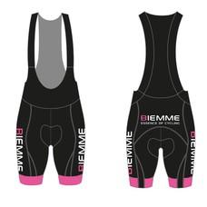 Biemme Fietsbroek PRO zwart fluo pink