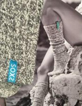 SOXS Soxs dames Ibiza Edition Turquioise label