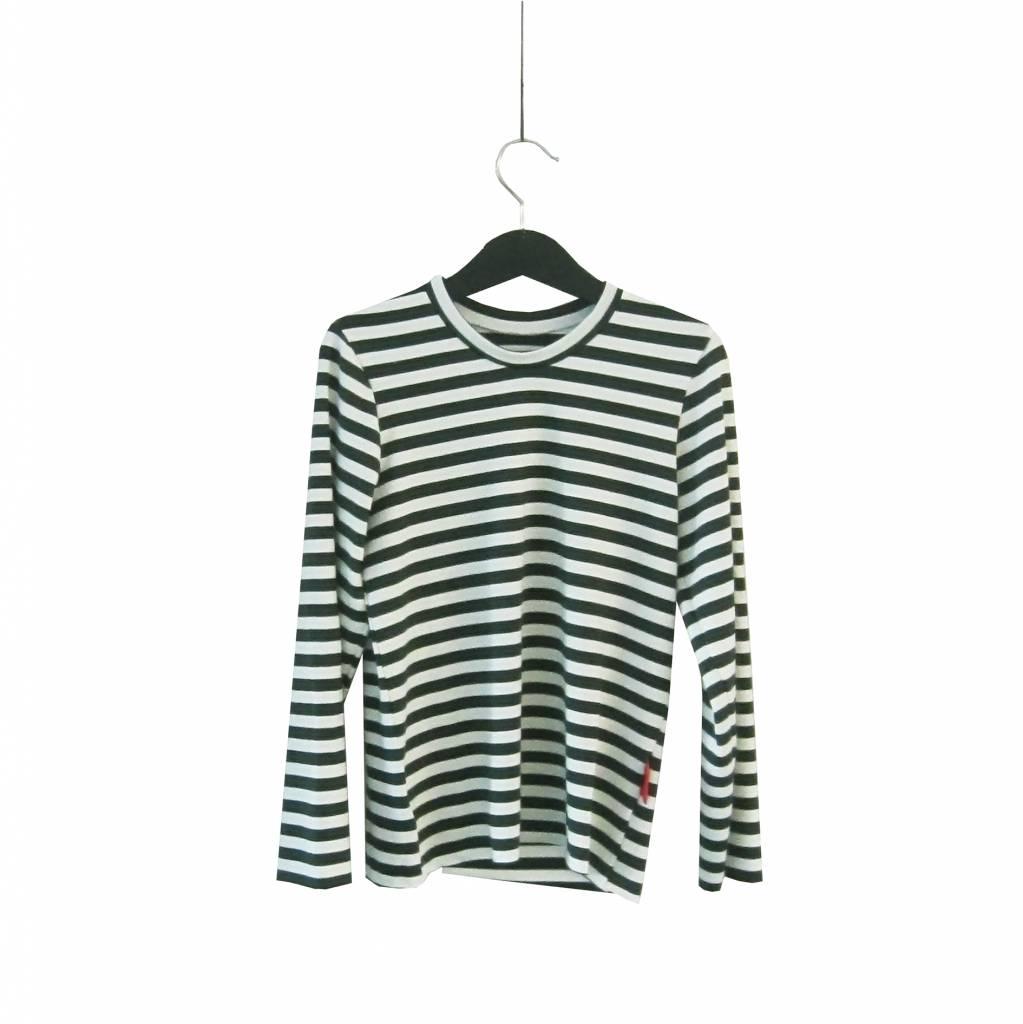 Haas Striped long sleeve tee