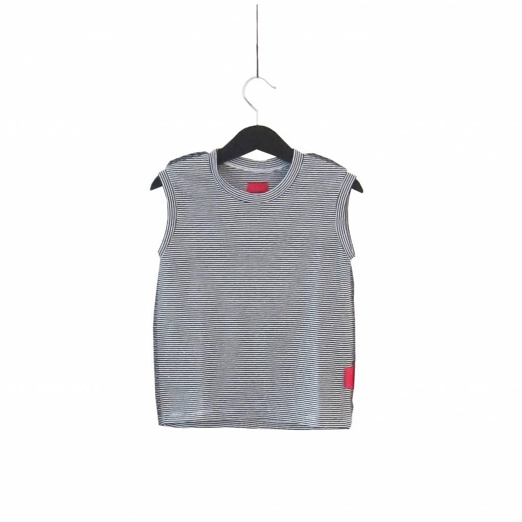 Haas Gestreept mouwloos shirt