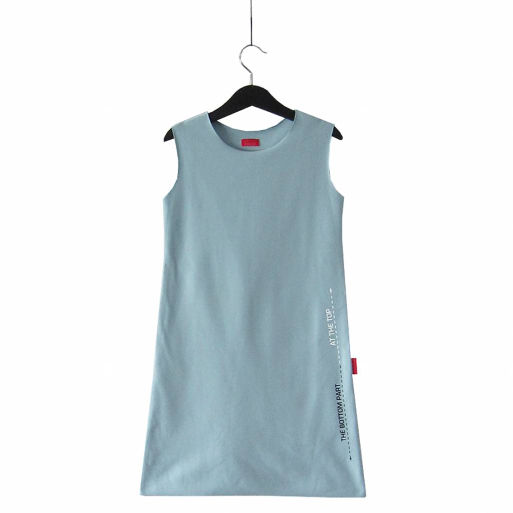 Haas Tank dress with text print