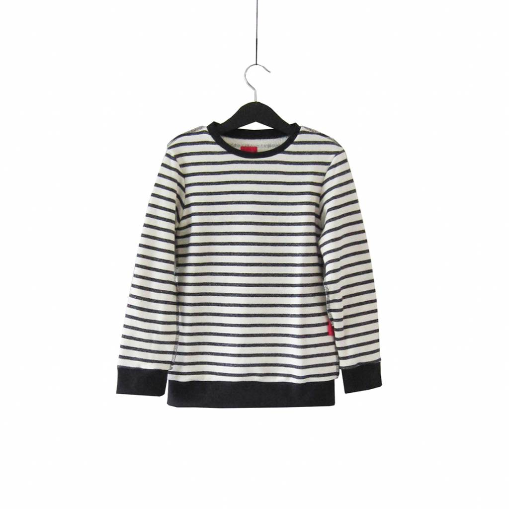 Striped long sleeve sweater