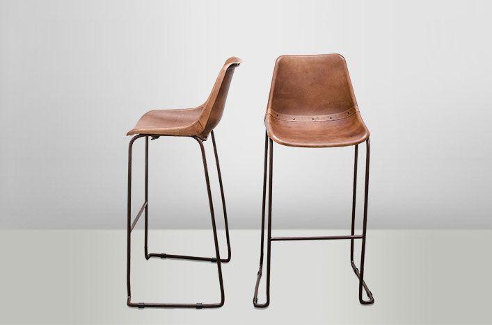 Tabouret vintage marron for Barhocker industriedesign