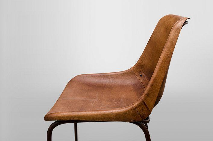 Bruine Leren Stoel : Vintage stoelen leer. finest gave retro vintage fauteuil van leer op
