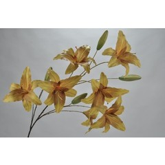 Silk-ka Lily branch green / yellow