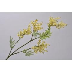 Silk-ka Branche de mimosa jaune / vert 95 cm