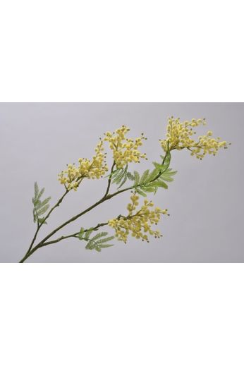 Silk-ka Mimosa branch yellow / green 95 cm