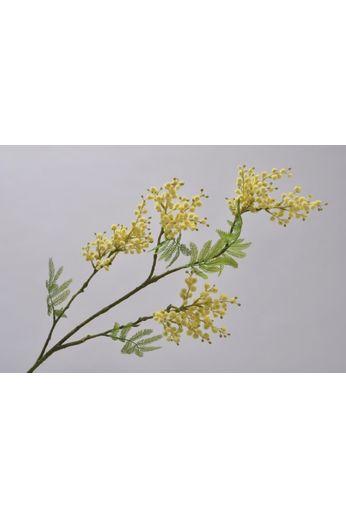 Silk-ka Mimosa branche jaune / vert 95 cm