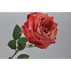 Silk-ka Rose avec la feuille de pêche