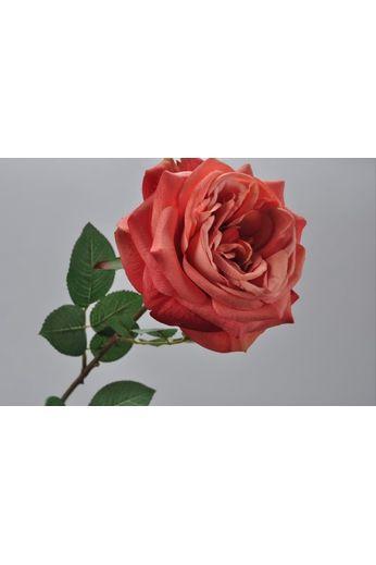 Silk-ka Roos met blad perzik