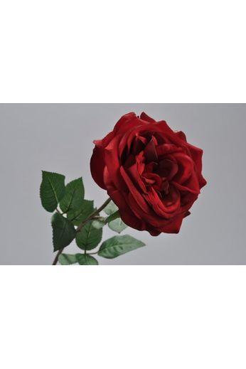 Silk-ka Rose avec feuille rouge