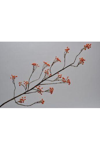 Silk-ka Baie de petits fruits orange 120 cm