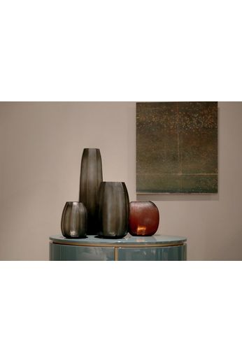 "Guaxs Vase ""KOONAM XL"" light-black steel gray"