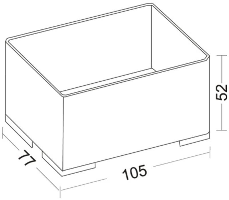 Stapelbare Medicijnbak 105 x 77 x 47 mm ( Type 203 )