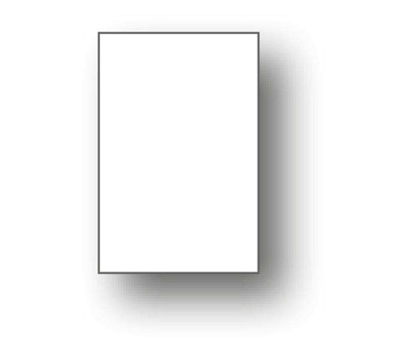 100 x Minikaart 50x25mm blanco