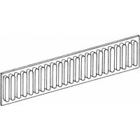 Lade indeling ribprofiel en aluminium 55mm hoog