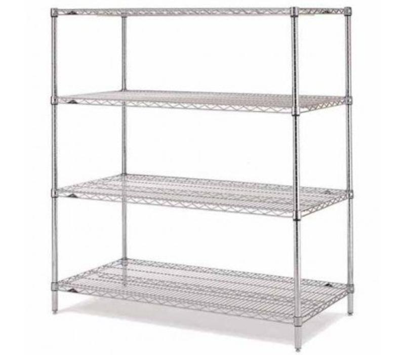 Complete with 4 shelves / 610mm