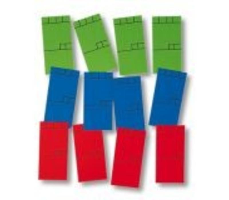 270 x Minikaart 50x25mm groen