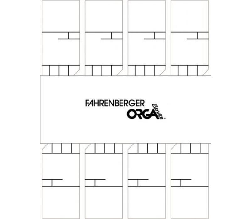 50 x 8 Minicards ( White )