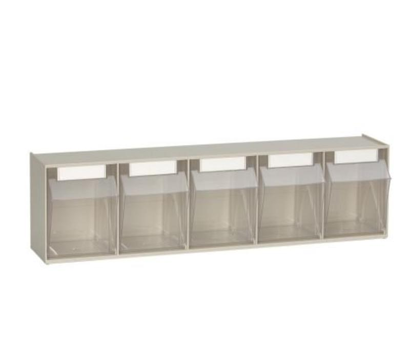 Tilting container system 5-compartment 600x138x164 mm