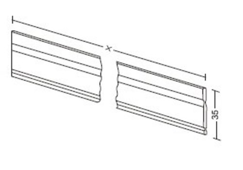 Aluminum length - divider 35mm ( custom )