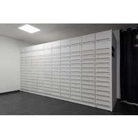 H-Box pharmacy cabinet (column with 14 drawers)