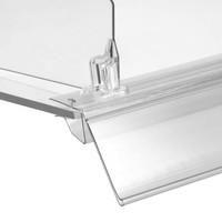 Barcode prijskaart houder met rail voor glasplaten