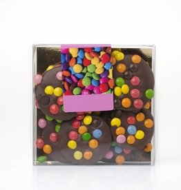 Chocolate Caraques with Smarties